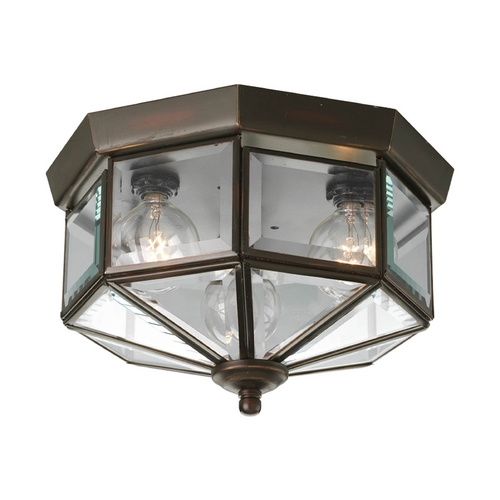 Progress Lighting Progress Bronze Outdoor Ceiling Light with Clear Glass P5788-20