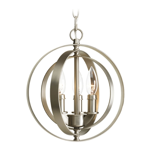 Progress Lighting Progress Orb Pendant Light in Burnished Silver Finish P5142-126