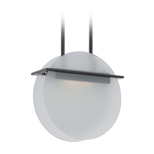 Nuvo Lighting Modern LED Pendant Light with White Glass in Textured Black Finish 62/188
