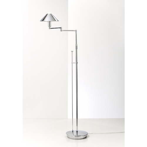 Holtkoetter Lighting Holtkoetter Modern Swing Arm Lamp in Chrome Finish 9424 CH