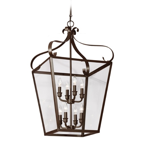 Sea Gull Lighting Sea Gull Lighting Lockheart Heirloom Bronze Pendant Light with Square Shade 5119408-782