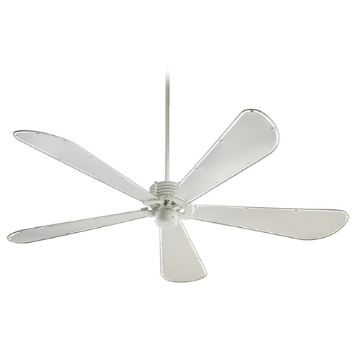 Quorum Lighting Quorum Lighting Dragonfly Studio White Ceiling Fan Without Light 59725-8