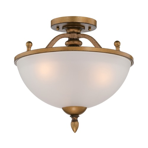 Designers Fountain Lighting Designers Fountain Isla Aged Brass Semi-Flushmount Light 85611-ABS
