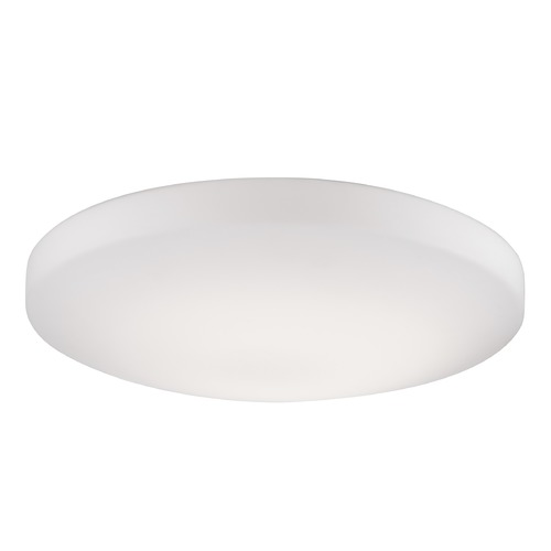 Kuzco Lighting Modern White LED Flushmount Light with White Shade 3000K 910LM FM11015-WH
