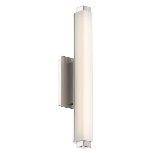 Modern Forms by WAC Lighting Modern Forms Mini Vogue Brushed Nickel LED Vertical Bathroom Light 3500K 784LM WS-21712-35-BN