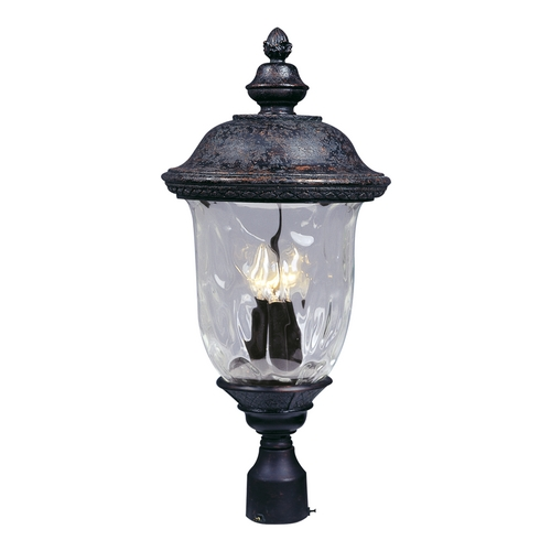 Maxim Lighting Maxim Lighting Carriage House Dc Oriental Bronze Post Light 3420WGOB