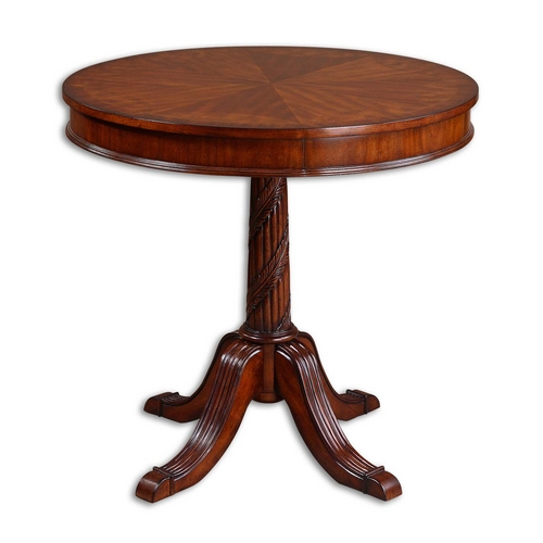 Uttermost Lighting Table in Polished Pecan Finish 24149