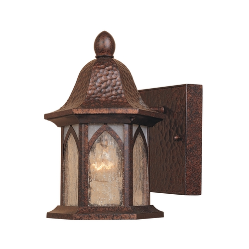 Designers Fountain Lighting Outdoor Wall Light with Clear Glass in Burnished Antique Copper Finish 20601-BAC