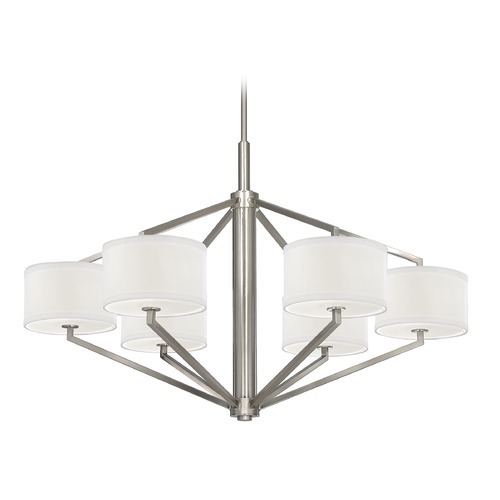 Dolan Designs Lighting Chandelier with Drum Shades - Six Lights 1882-09