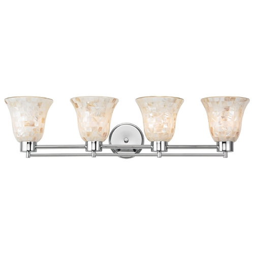 Design Classics Lighting Bathroom Light with Mosaic Glass - Four Lights 704-26 GL9222-M