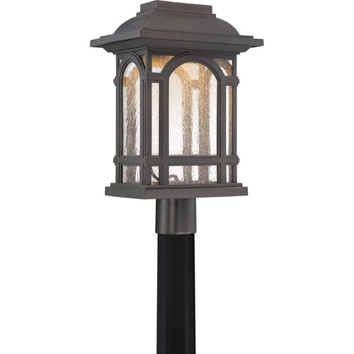 Quoizel Lighting Quoizel Cathedral LED Palladian Bronze Post Light CATL9011PN