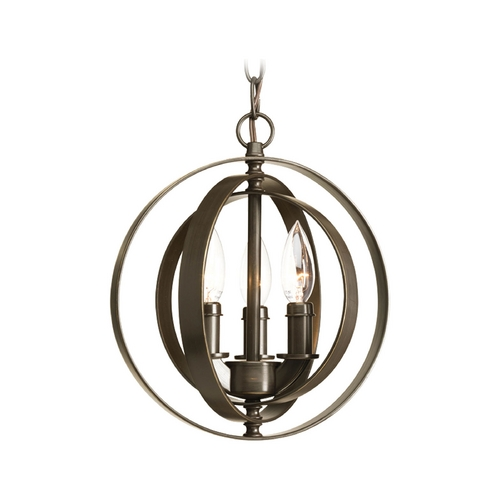 Progress Lighting Progress Pendant Light in Antique Bronze Finish P5142-20