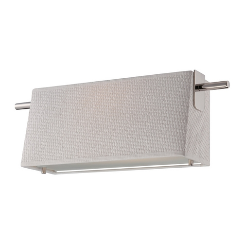 Nuvo Lighting Modern LED Bathroom Light with White Shade in Polished Nickel Finish 62/191