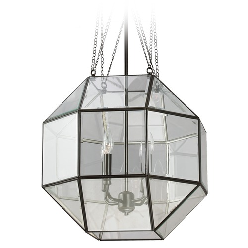 Sea Gull Lighting Sea Gull Lighting Lazlo Heirloom Bronze Pendant Light with Octagon Shade 6534404-782