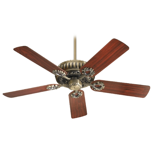 Quorum Lighting Quorum Lighting Empress Antique Brass Ceiling Fan Without Light 35525-4