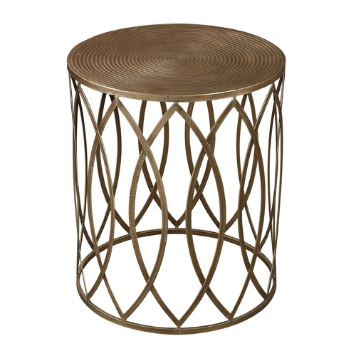 Sterling Lighting Sterling Lighting Gold Paint with Champagne Antique Accent Table 138-009