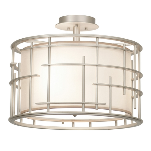 Kalco Lighting Kalco Lighting Atelier Tarnished Silver Semi-Flushmount Light 6482TS