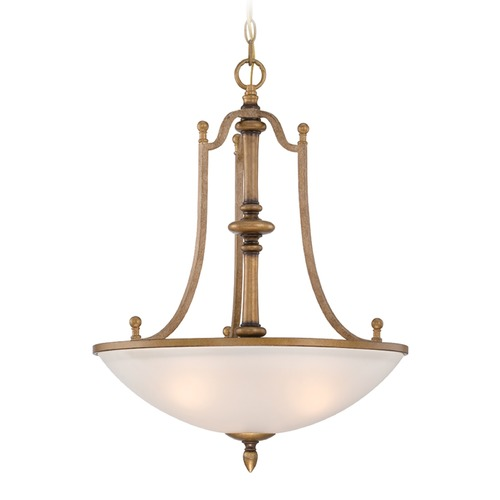 Designers Fountain Lighting Designers Fountain Isla Aged Brass Pendant Light with Bowl / Dome Shade 85631-ABS