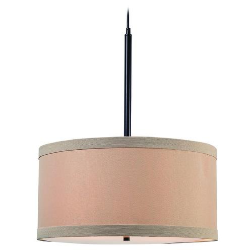 Kenroy Home Lighting Keen Bronze Pendant Light With Drum: Paige Oil Rubbed Bronze Pendant Light With Drum Shade By