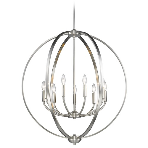 Golden Lighting Golden Lighting Colson Pw Pewter Chandelier 3167-9 PW