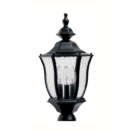 Maxim Lighting Post Light with Clear Glass in Black Finish 1015BK