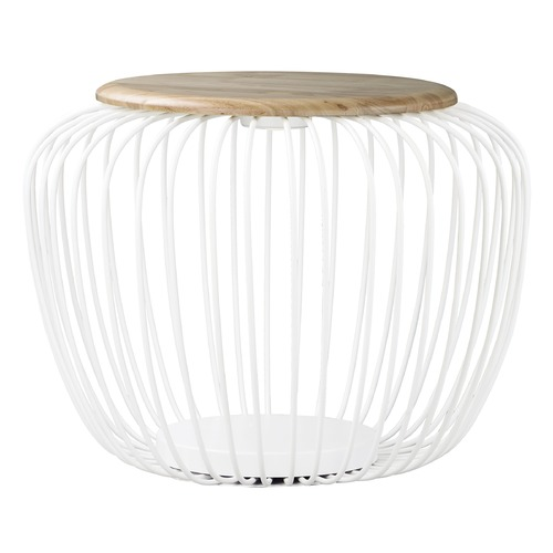 ET2 Lighting ET2 Cage White and Navaho White LED Floor Lamp with Bowl / Dome Shade E20578-WTNW