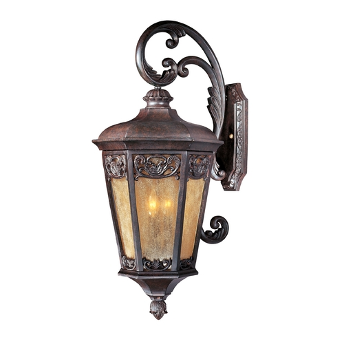 Maxim Lighting Outdoor Wall Light with Beige / Cream Glass in Colonial Umber Finish 40175NSCU