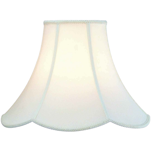 Lite Source Lighting Antique Satin Scalloped Lamp Shade with Spider Assembly CH107-16