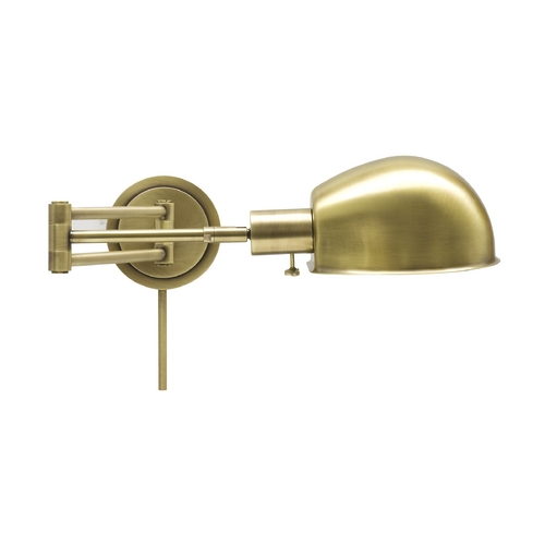 House of Troy Lighting Swing Arm Lamp in Antique Brass Finish AD425-AB