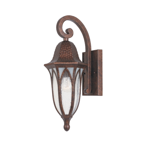 Designers Fountain Lighting Outdoor Wall Light with Clear Glass in Burnished Antique Copper Finish 20611-BAC