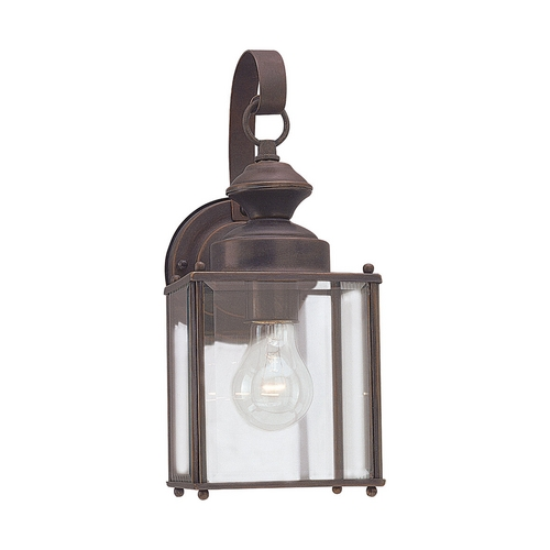 Sea Gull Lighting Outdoor Wall Light with Clear Glass in Antique Bronze Finish 8457-71