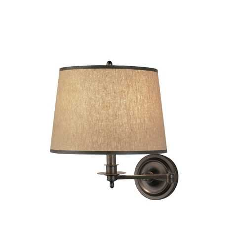 Robert Abbey Lighting Traditional Direct-Wire Swing-Arm Wall Lamp 2150