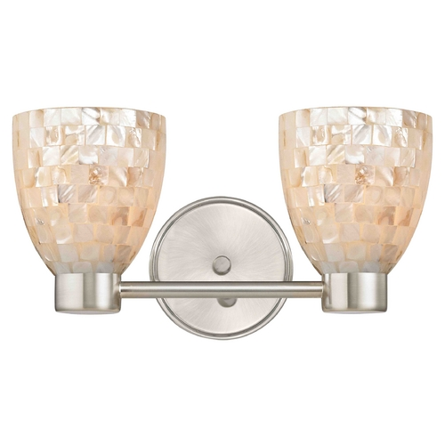 Design Classics Lighting Aon Fuse Modern Satin Nickel Bathroom Light with Bell Glass 1802-09 GL1026MB