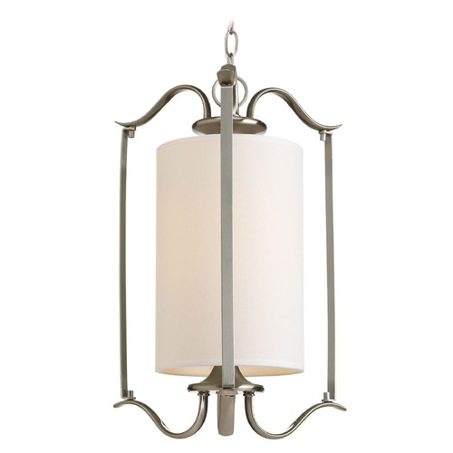 Progress Lighting Progress Pendant Light with Beige / Cream Shade P3799-09