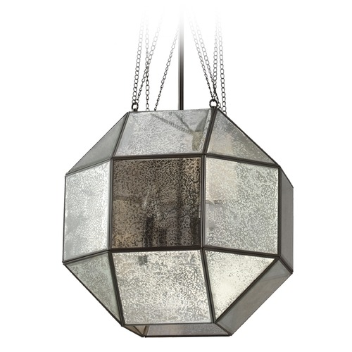 Sea Gull Lighting Mercury Glass Octagon Pendant Light Bronze Sea Gull Lighting 6535404-782