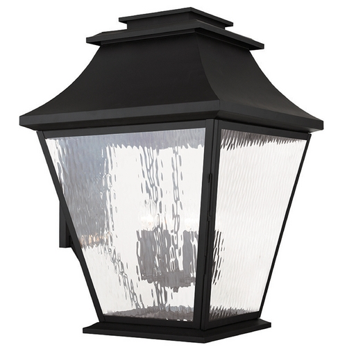 Livex Lighting Livex Lighting Hathaway Black Outdoor Wall Light 20251-04