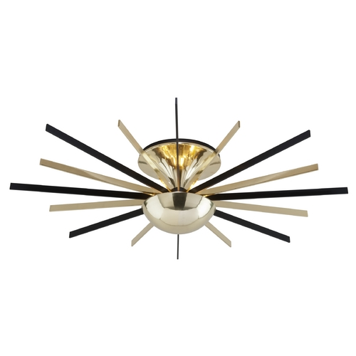 Troy Lighting Troy Lighting Atomic Polished Brass with Matte Black LED Semi-Flushmount Light C4253