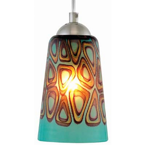 Oggetti Lighting Oggetti Lighting Carnivale Satin Nickel Mini-Pendant Light with Cylindrical Shade 22-L0210N