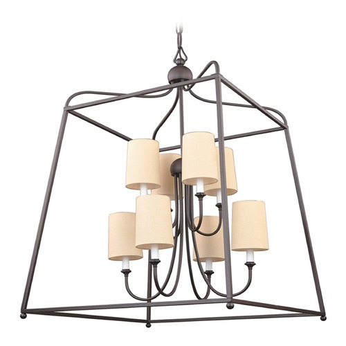 Crystorama Lighting Crystorama Lighting Sylvan Dark Bronze Pendant Light with Cylindrical Shade 2248-DB