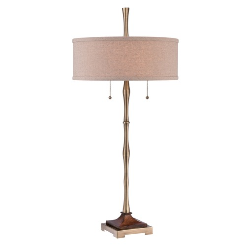 Quoizel Lighting Quoizel Hickman Antique Bronze Table Lamp with Drum Shade CKHM1879T