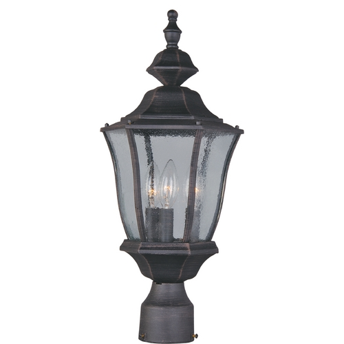 Maxim Lighting Post Light with Clear Glass in Rust Patina Finish 1015RP