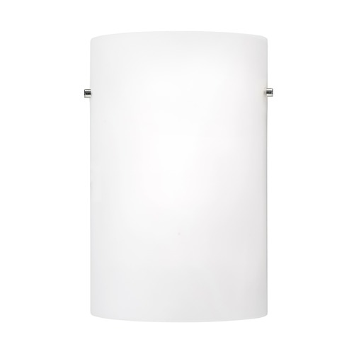 Kuzco Lighting Modern Brushed Nickel or Chrome LED Sconce with White Opal Shade 3000K 575LM WS3309