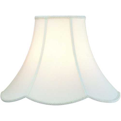 Lite Source Lighting Antique Satin Scalloped Lamp Shade with Spider Assembly CH107-18