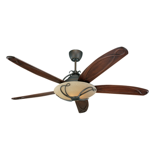 Monte Carlo Fans Ceiling Fan with Light in Bronze / Light Tea Stain Finish 5CLR66RBD-L