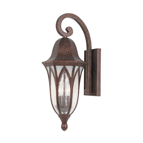 Designers Fountain Lighting Outdoor Wall Light with Clear Glass in Burnished Antique Copper Finish 20621-BAC