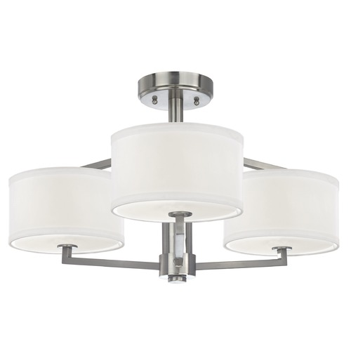 Dolan Designs Lighting Semi-Flush Ceiling Light with Drum Shades 1885-09