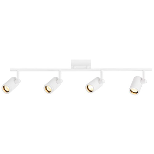 Recesso Lighting by Dolan Designs Track Light with 4 Cylinder Spot Lights - White - GU10 Base TR0104-WH