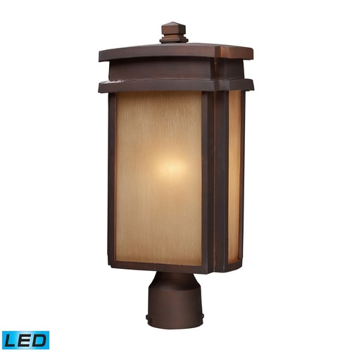 Elk Lighting Elk Lighting Sedona Clay Bronze LED Post Light 42145/1-LED