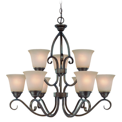 Jeremiah Lighting Jeremiah Gatewick Century Bronze Chandelier 26029-CB
