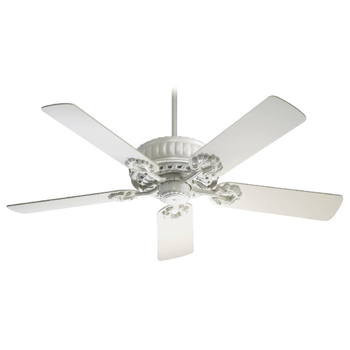 Quorum Lighting Quorum Lighting Empress Studio White Ceiling Fan Without Light 35525-8